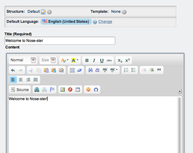 Figure 2.13: The Web Content Editor provides many options for customization.