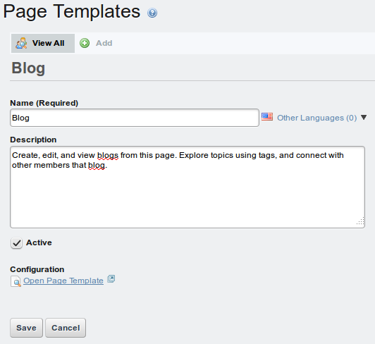 Figure 3.14: Page Templates