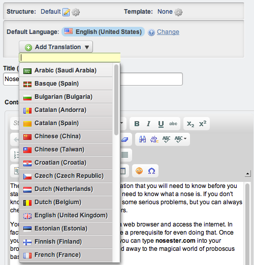 Figure 3.17: Adding a translation