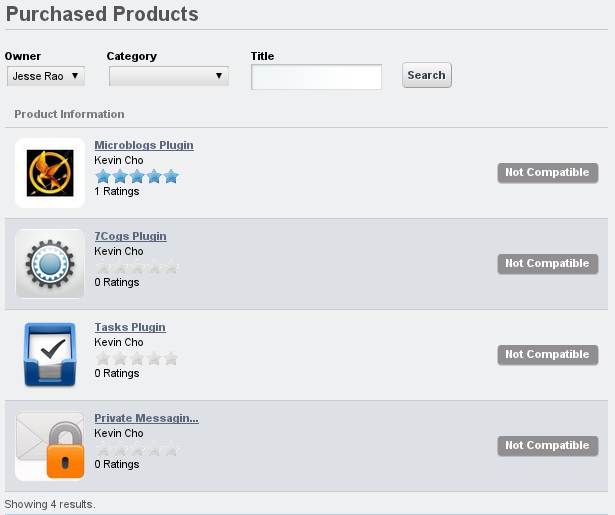 Figure 13.14: Purchased Apps