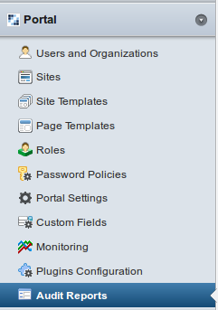 Figure 17.1: Once the Audit Reports plugins are installed, an entry appears in the control panel.
