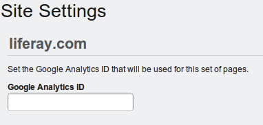 Figure 17.6: Setting up Google Analytics for your site is very easy: sign up for the ID and then enter it into this field.