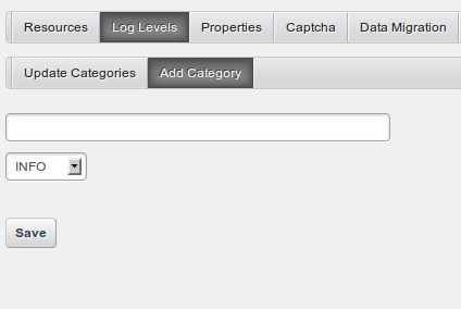 Figure 17.8: Adding your own logging classes is as simple as specifying it in this field.