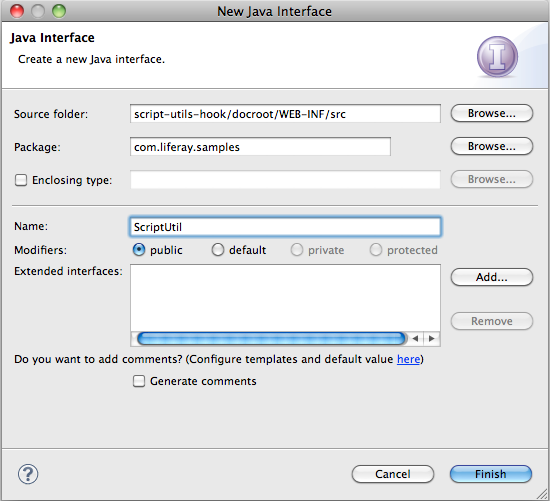 Figure 18.2: Create a new Java Interface which youll later implement.