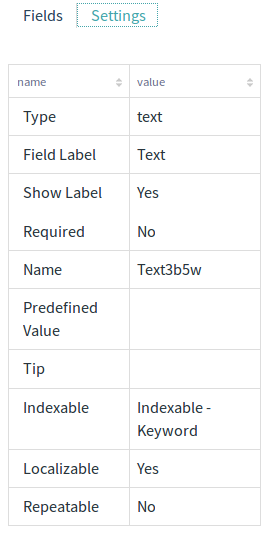 Figure 4: Fields can be configured in a variety of ways.