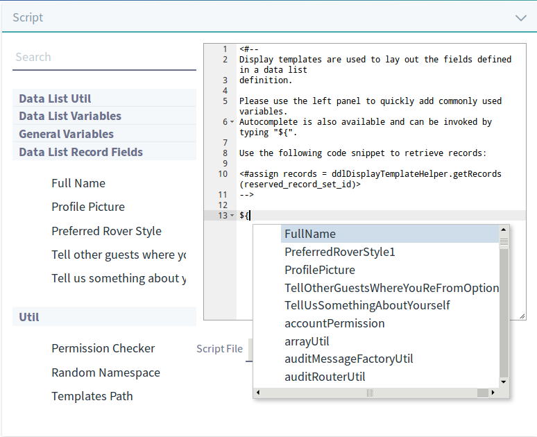 Figure 8: Upload an existing template, or create one using the template editor.