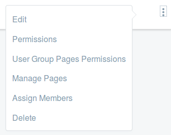 Figure 3: To add users to the User Group, select Assign Members from its Action menu.