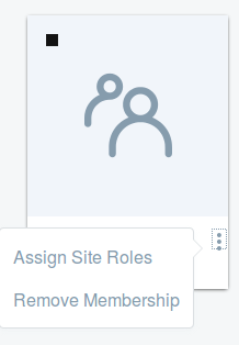 Figure 11: From a user groups Actions menu, select Manage Pages to create a user group site manually.