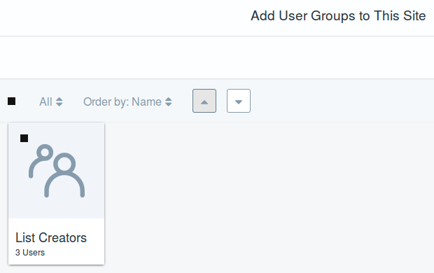 Figure 7: User groups let you assign many users to a site at once.