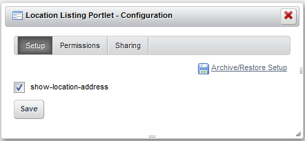 Figure 3.14: Your new portlet preference is available in the Configuration page.