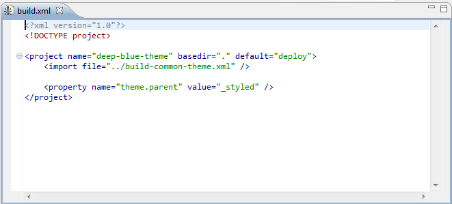 Figure 5.8: Content of build.xml