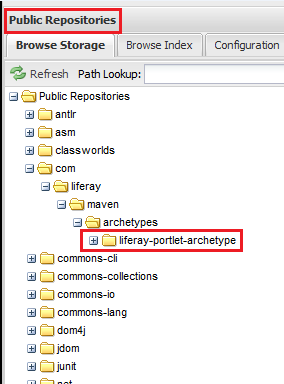 Figure 9.12: Your archetype and its dependencies are now available in your local repository.