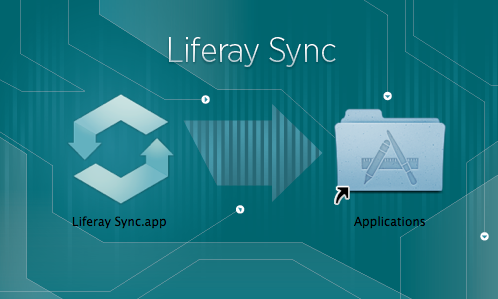 Figure 4.22: Drag the Liferay Sync icon to the Applications folder.
