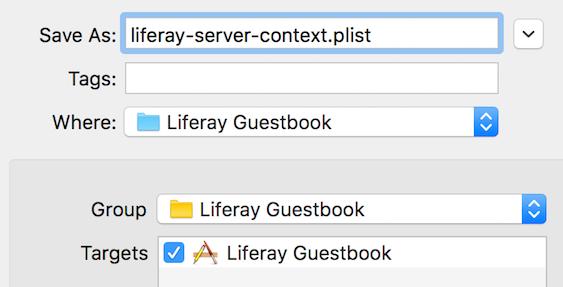 Figure 11: Create the plist file as shown here.