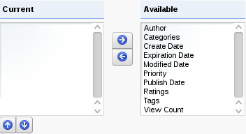 Figure 5.14: Available metadata types