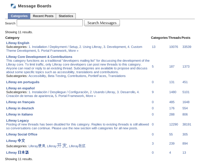Figure 7.13: Liferays Forums on Facebook
