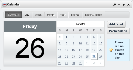 Figure 7.22: The Liferay Calendar Portlet