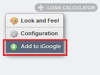 Figure 8.20: Users simply click the Add to iGoogle button to add your portlet to their iGoogle page.