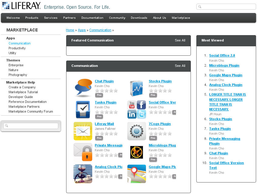Figure 13.3: Browsing Apps in Marketplace