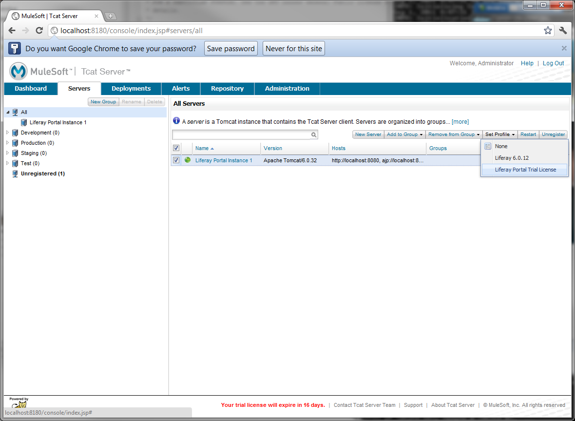 Figure 14.31: Apply Liferay Portal trial license