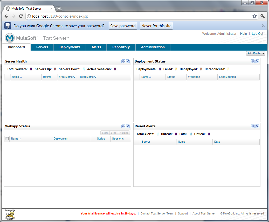 Figure 14.25: Customizable Tcat Admin Console