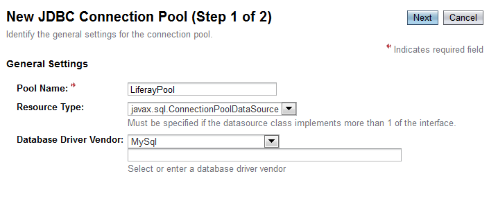 Figure 14.38: Glassfish JDBC Connection Pool
