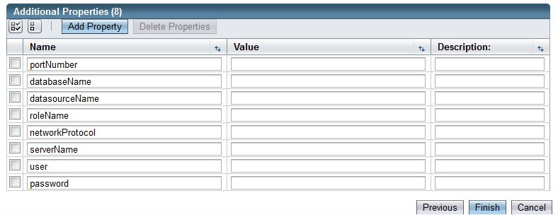 Figure 14.39: Glassfish JDBC Connection Pool Properties