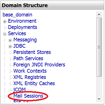 Figure 14.42: WebLogic: Mail Sessions