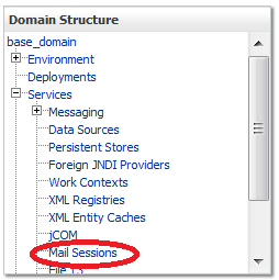 Figure 14.46: WebLogic Mail Sessions