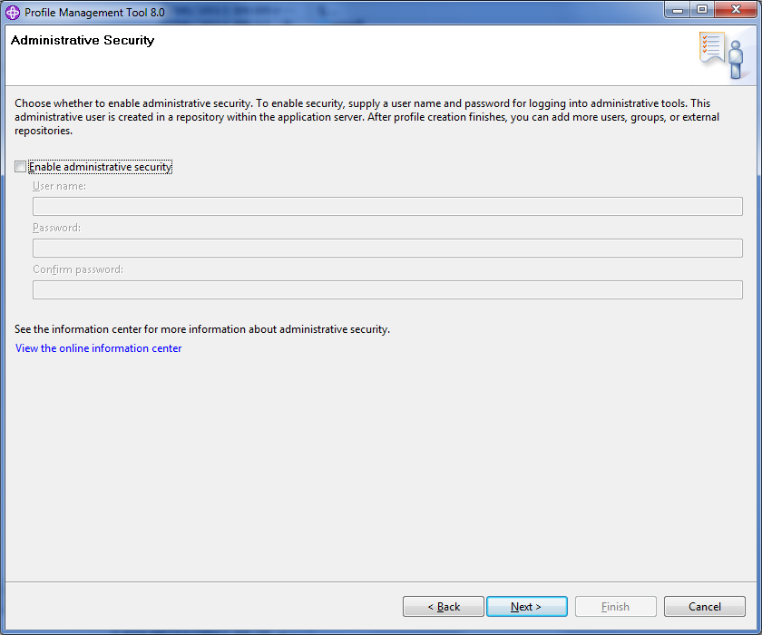Figure 14.51: Weve disabled administrative security but you may want to enable it.
