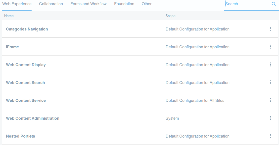Figure 3: Navigate to the Control Panel, click on Configuration and then System Settings. Youll find five categories of configurations, including Other. Click on any configuration to access a form through which the configuration values can be updated.