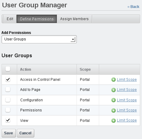 Figure 15.12: Make sure to test the permissions you grant to custom roles.