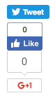 Figure 3: Here are the share buttons with displayStyle set to vertical.