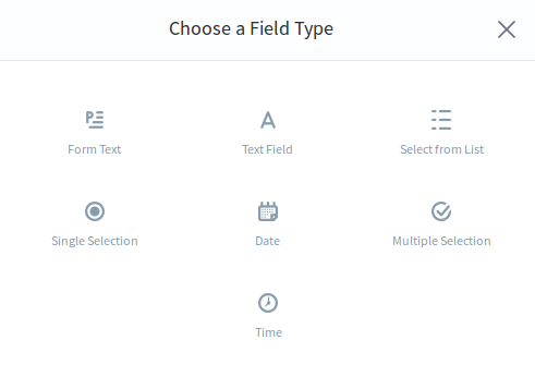 Figure 1: Add your own form field types to the Forms application.
