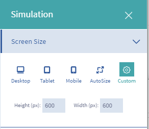 Figure 1: The Simulation Menu offers a device preview application.