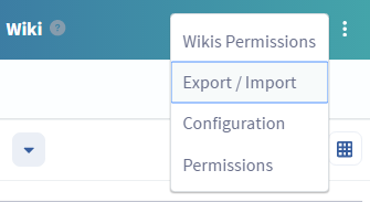 Figure 1: You can access the Export/Import feature for an app by selecting its Options menu.