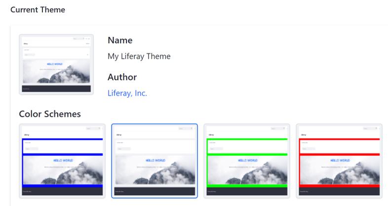 図1:カラースキームにより、管理者はテーマの外観を選択できます。