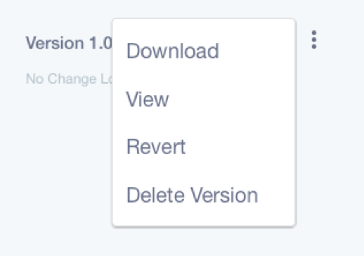 Figure 1: No file is written in stone. Version history actions let you inspect, delete, and reinstate file versions.