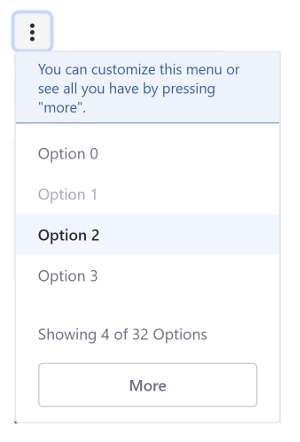 Figure 6: You can provide help text in Actions menus.