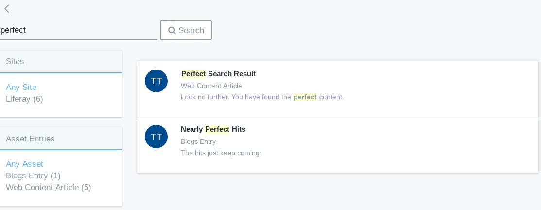 Figure 1: The goal is to return the perfect results to users searching your site.