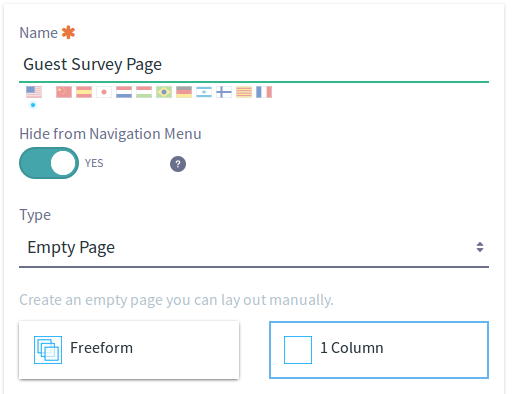 Figure 5: Add a page for guests to view and fill out your new form.