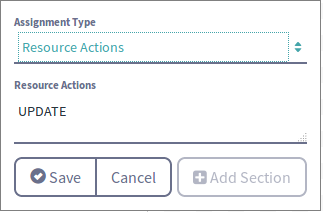 Figure 2: Configure resource action assignments in Kaleo Designer.