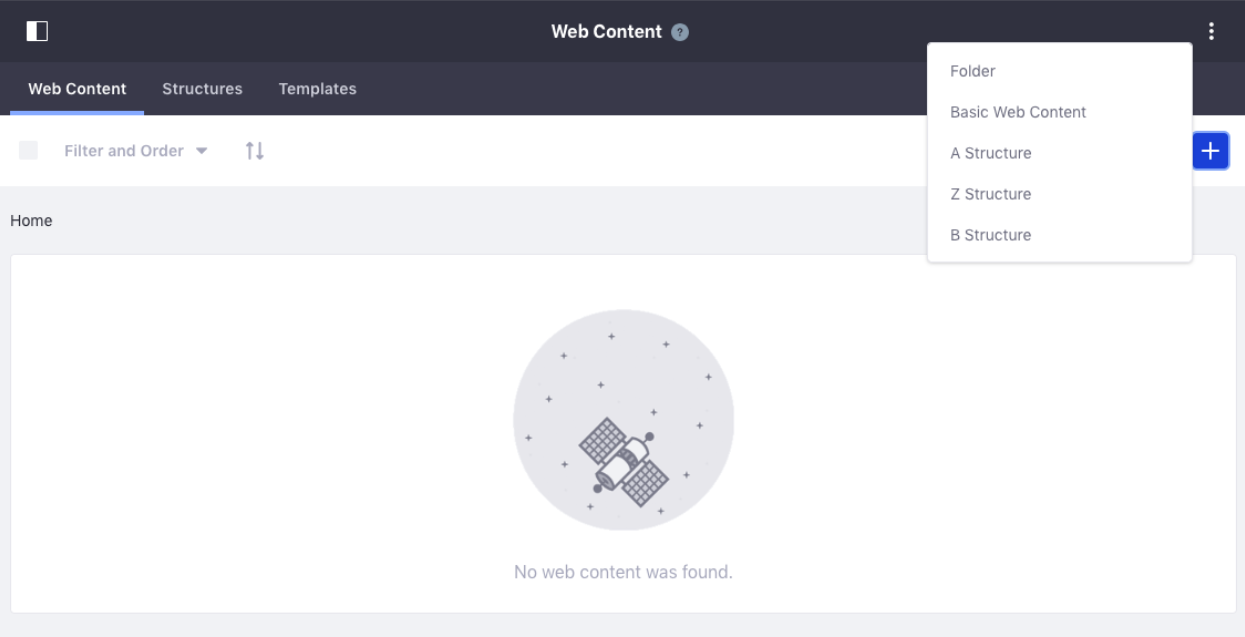 Figure 5: The default ordering for Web Content Structures can yield confusing results.