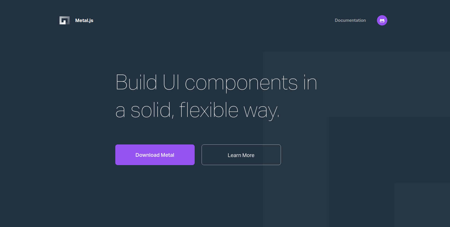Figure 1: You can create UIs easily, thanks to Metal.js.