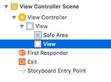 Figure 1: The new view is nested under the view controllers existing view.