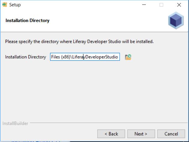 Figure 1: Choose the folder your Developer Studio instance should reside.