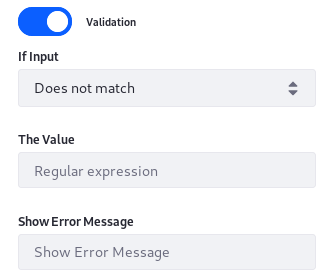 Figure 9: Validate Text fields to ensure Users enter the correct data.