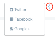Figure 1: Social bookmarks are enabled in the built-in Blogs portlet