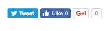 Figure 4: Here are the share buttons with displayStyle set to horizontal.