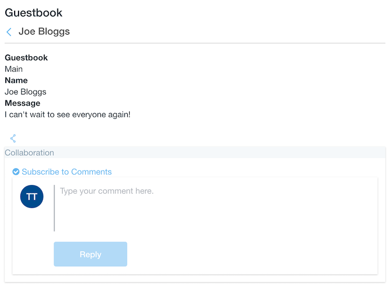 Figure 1: Your JSP lets users comment on content in your portlet.